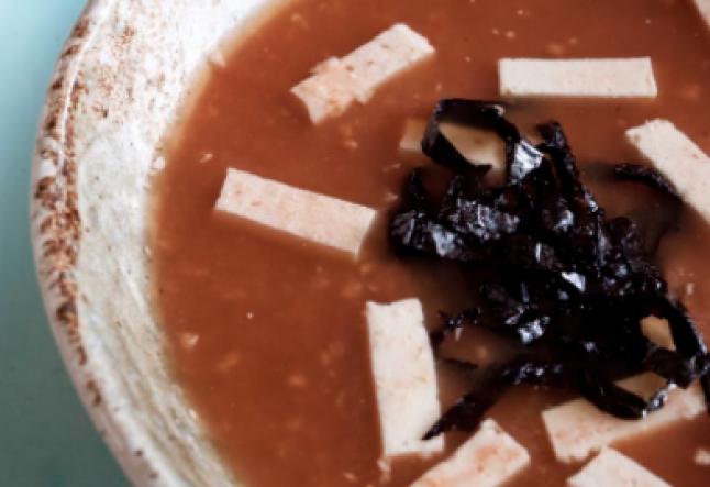 raw warm miso soup