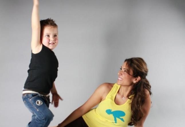 Enjoying yoga with your child