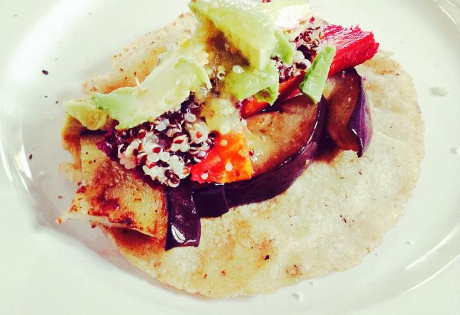 kale avocado platano quinoa tacos