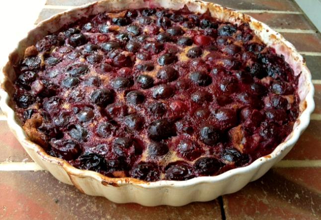 cherry clafouti tart