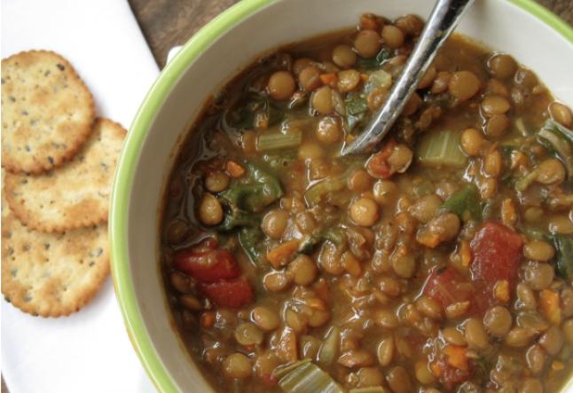 healthy & hearty lentil soup