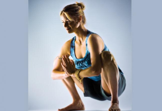 malasana squat garland pose