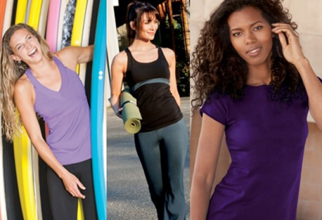 blue canoe's organic apparel designed by laurie dunlap