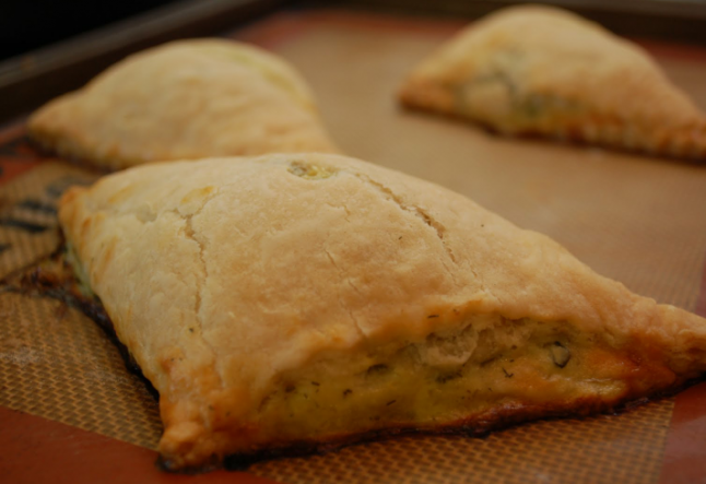 kale and spinach turnovers