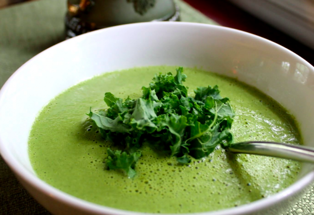 raw vegan kale soup