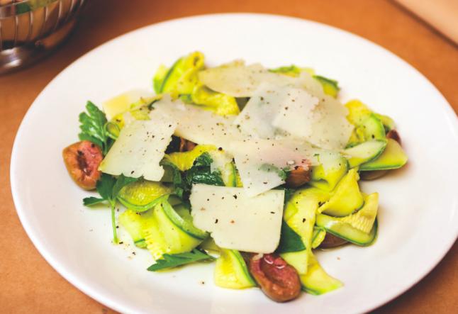 mint zucchini  salad