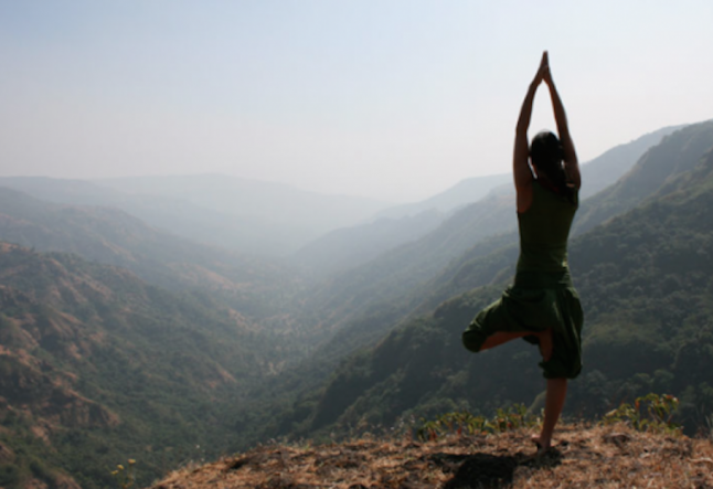 vrksāsana tree pose