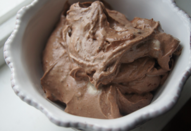 raw chocolate ice cream