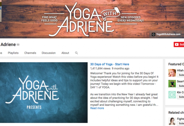 3 youtube yoga selection for your home practice