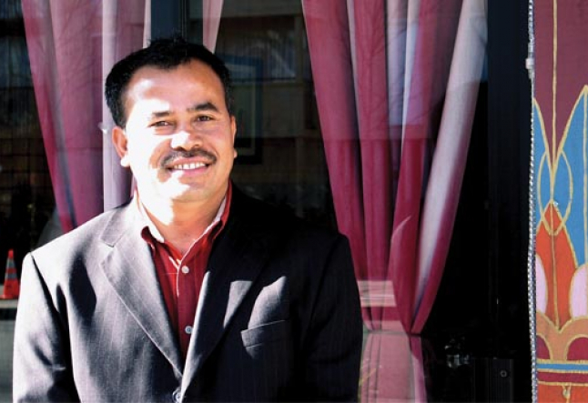 rajen thapa, owner of taste of the himalayas restaurant in berkeley california