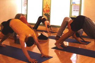 108 sun salutations at mountain yoga