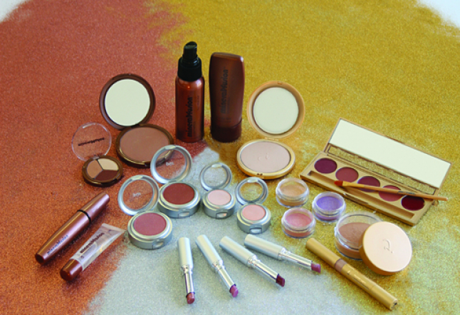 A Range of mineral-based  cosmetics