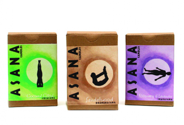 Yoga Inspired Candle Line