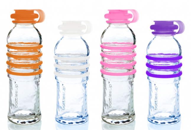 glass bottles in yoga classes