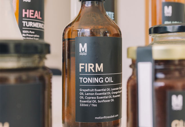motion firm oil - natural homemade cosmetics