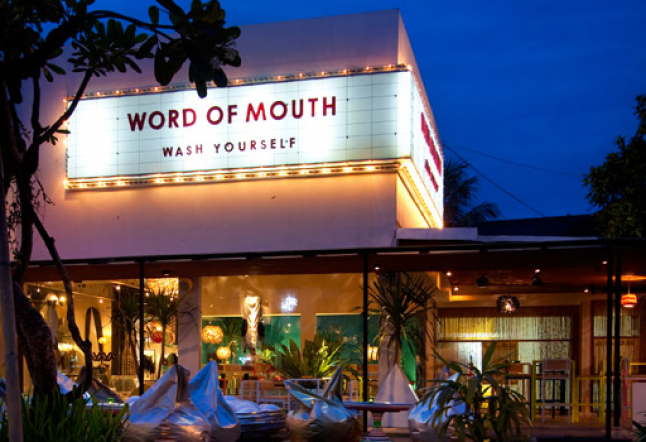 word of mouth | now closed since August 2013