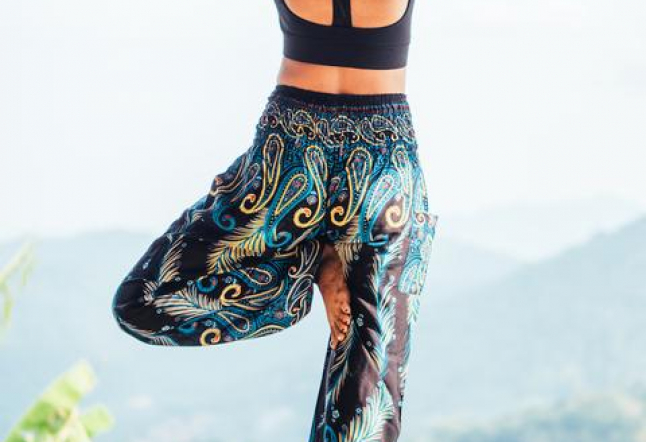 bohemian island's 100% cotton harem pants