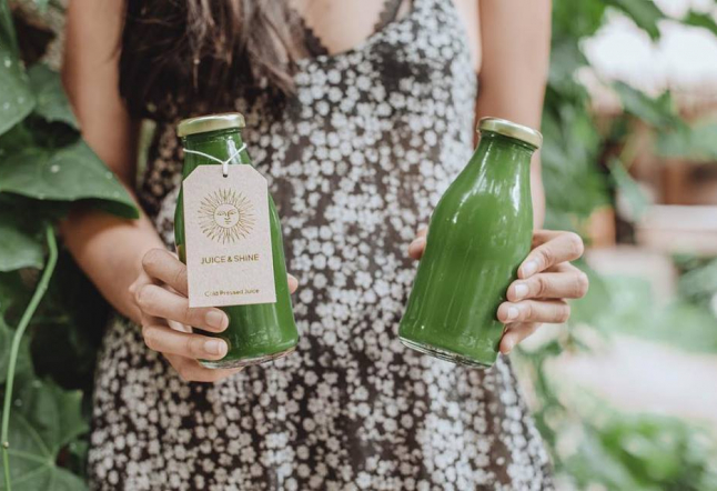 an invigorating 'juice cleanse' by juice and shine