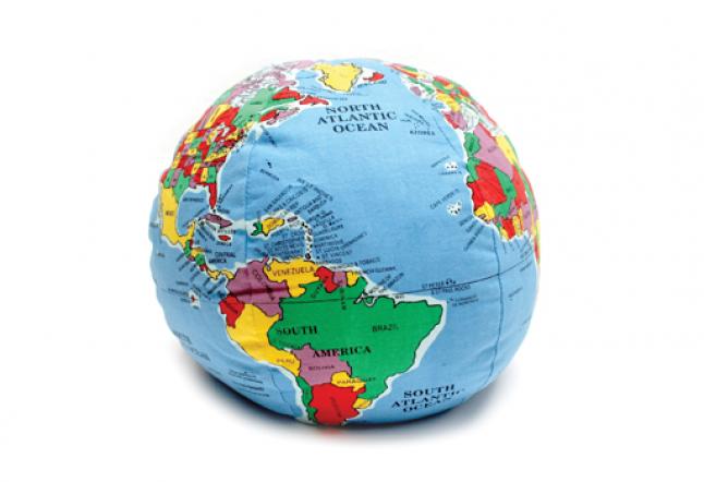 stuffed earth toy
